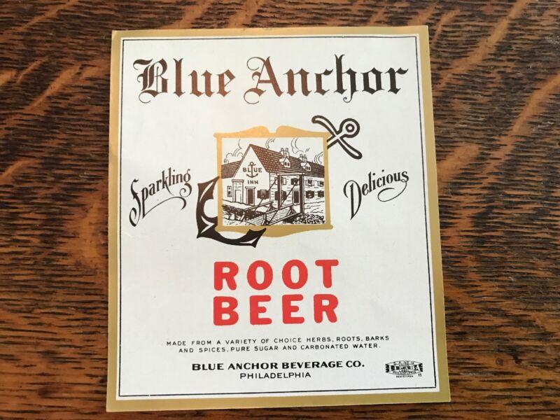 BLUE ANCHOR Vintage Root Beer Label, Beverage Co., Philadelphia, Pa.