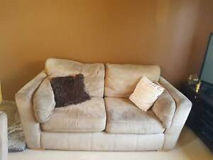 2.5 Seater Brown Suede Couch