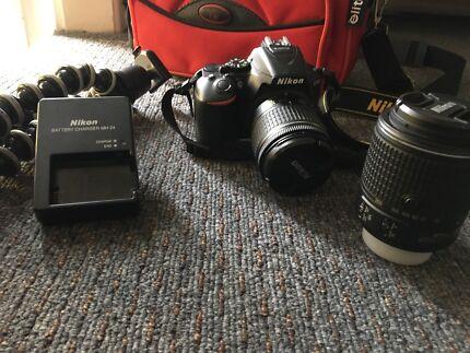 Nikon D5600 kit with 2x lenses, battery, carry case etc