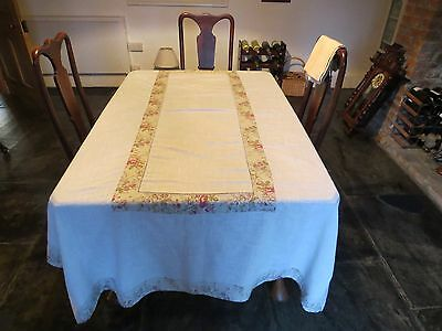 Authentic French Tablecloth, Napkins and Table Runner Set.