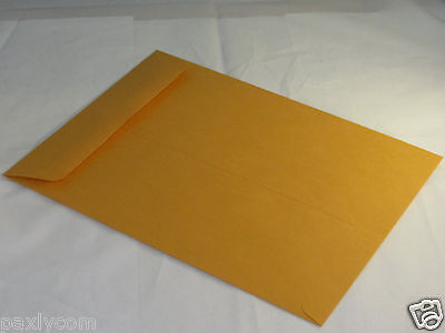 25 Manila 9 X 12 Kraft Catalog Mailing Envelopes Brown Self Seal Mailers 9x12