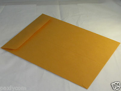 25 Manila 9 X 12 Kraft Catalog Mailing Envelopes Brown Self Seal Mailers 9x12