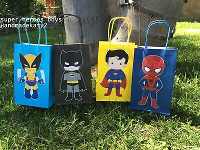 Superheroes little boys and girls goodie bags, candy bags. - Superhero Goodie Bags