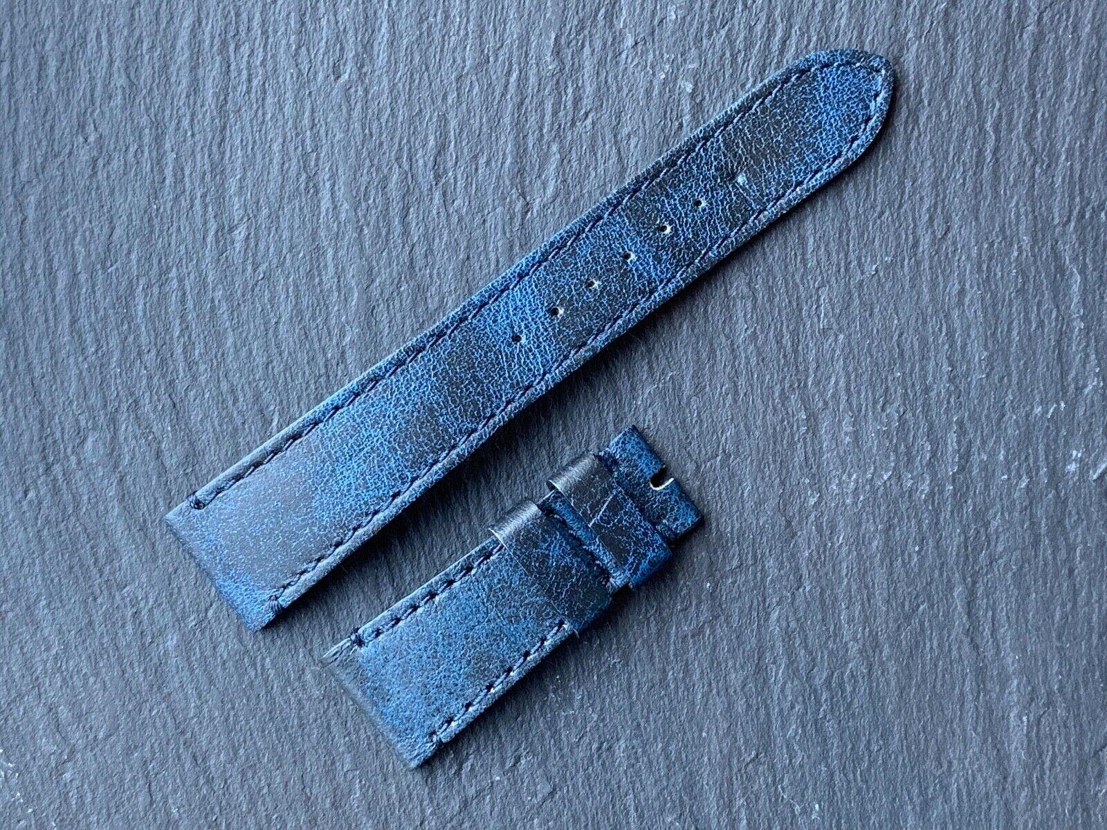 Tudor Heritage Black Bay Lederband blau ORIGINAL