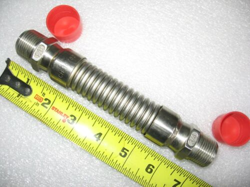 """3/4"""" x 7"""" NPT Flexible Stainless Nipple - Bellows Type Expansion/Isolation Joint"""