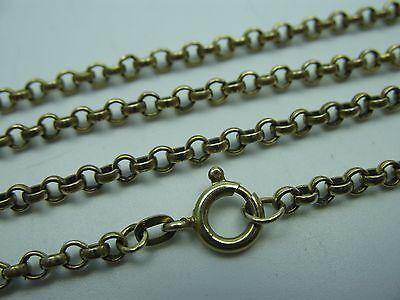Wunderschöne alte 70 cm lange 8 Karat 333 Gold Erbskette