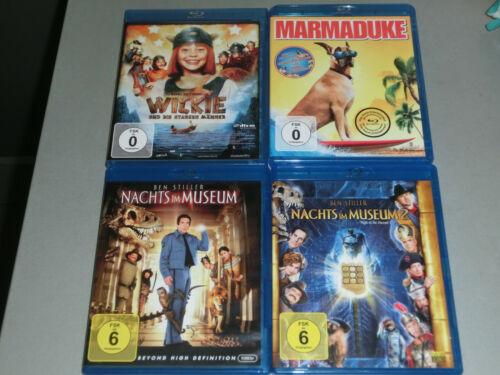 Blu Ray Familien Kinder Filme Wickie - Nachts im Museum 1+2,Marmaduke
