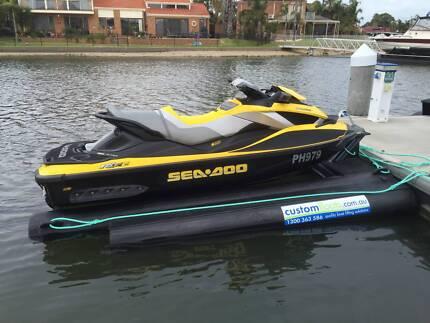 Jet Ski Dock - Custom Float Drive on Jet Ski Docking System