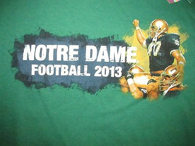Notre Dame Fighting Irish Football 2013 T Shirt Sz M NCAA South Bend Alumni (Notre Dame Football South Bend)