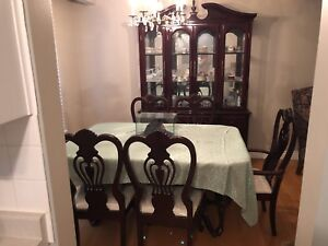 Dining room table set with China cabinet