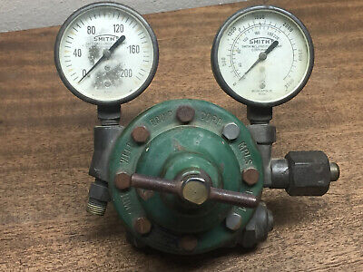 Smith Weld H313 Regulator Sn 24753 With Gauges 0-200 0-3000 Used