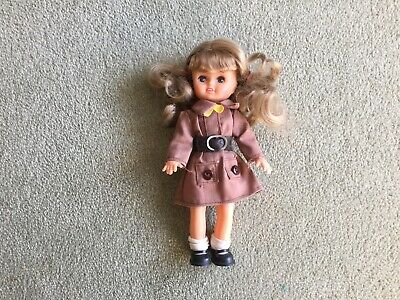 Vintage Plastic Brownie Doll 7inch