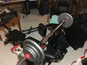 York Bench w Bar and 140 lbs of Weight