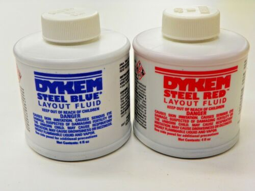 (1) RED AND (1) BLUE, 4 FL.OZ. OF  DYKEM LAYOUT FLUID   A056