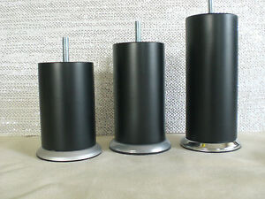 couchf e m belf e holzf e buche schwarz mat m8 60mm h 10 20cm metal sockel ebay. Black Bedroom Furniture Sets. Home Design Ideas