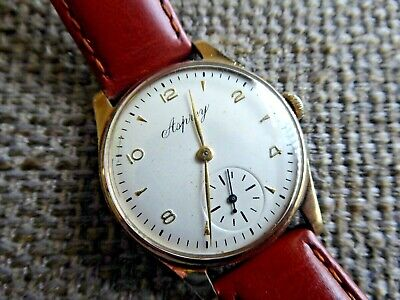 Asprey Gents 9 ct Gold manual wristwatch 1949  Running Accurately 6 Month w'ty