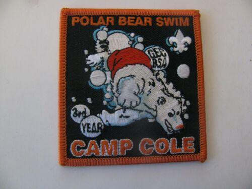 BSA Boy Scout Camp Cole Polar Bear Swim Sacramento CA Patch NOS Free Shipping