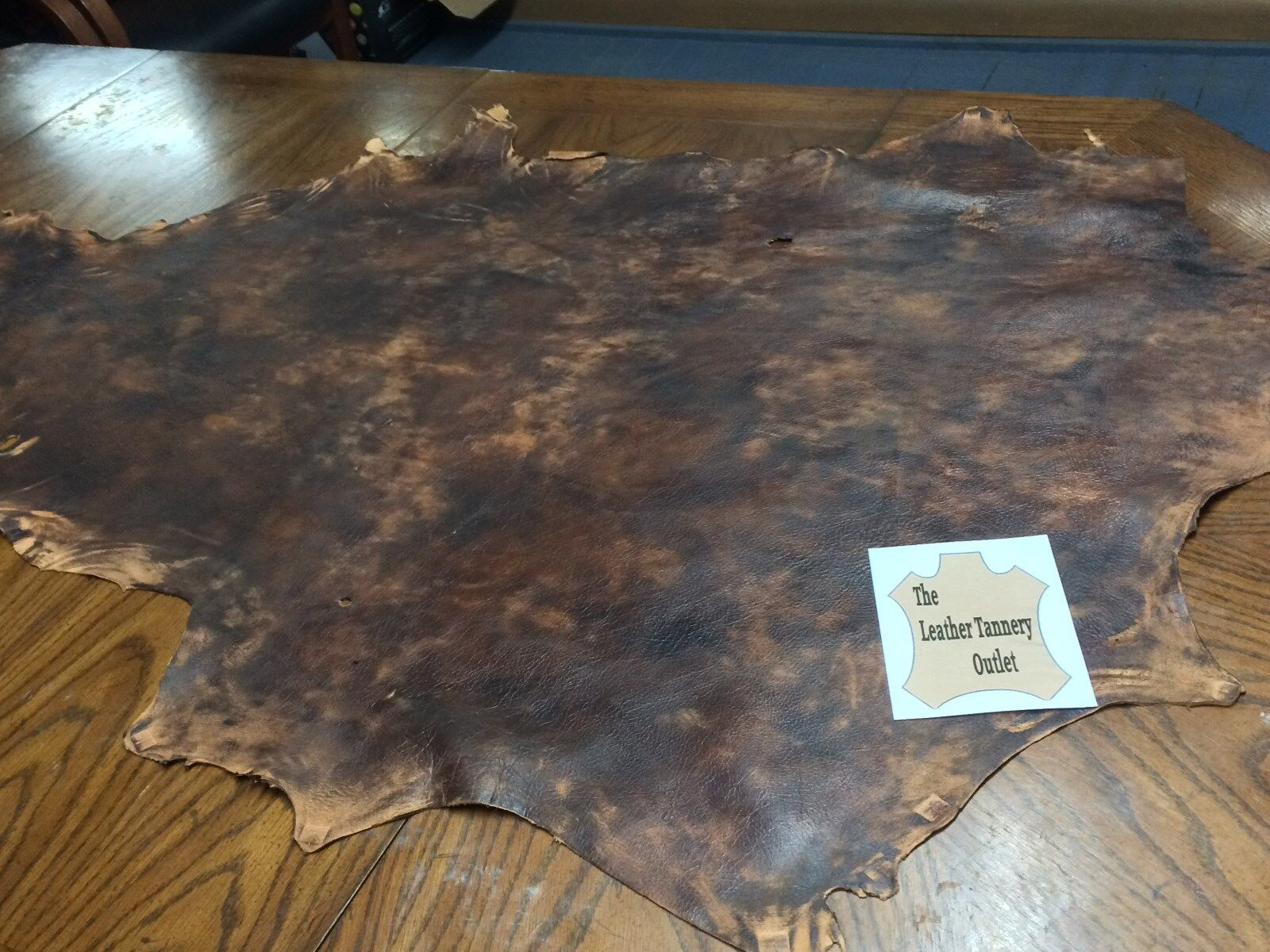 """Tan """"Old World"""" Deerskin Leather 3 oz   10 sq ft avg     A3."""