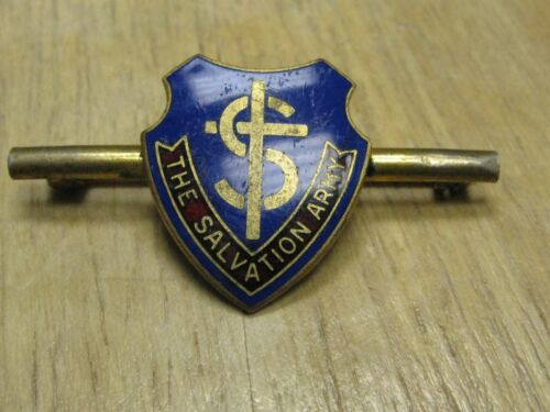 WWII SALVATION ARMY ENAMEL LAPEL PIN BADGE