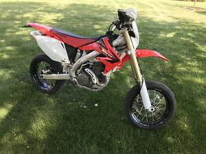 Crf 450x blue plated supermoto