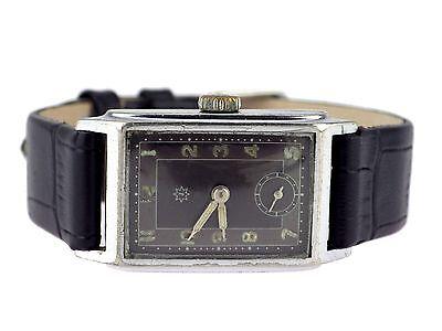 Art Deco Junghans Herren Armbanduhr Stahl Vintage um 1935