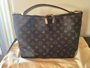 LOUIS VUITTON Sully PM Hand Bag Monogram Leather M40586
