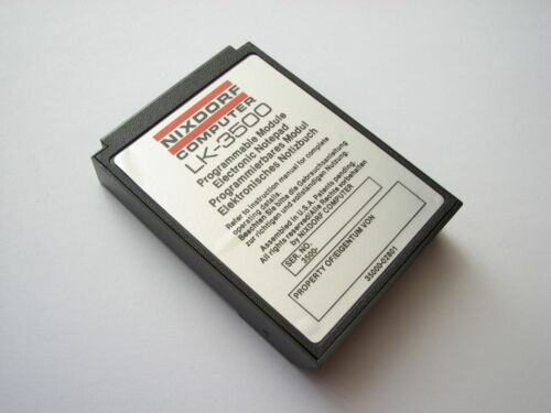 NEW Nixdorf Lexicon LK-3500 Programmable Electronic Notepad 🔴 cartridge (02801)