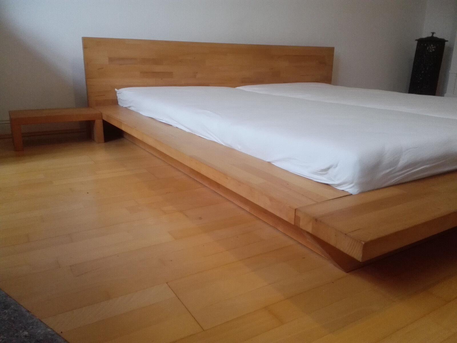 Massivholzbett Buche 180x200 Doppelbett Ehebett Massivholz Futon Bett Holz