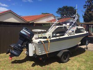 15ft 90hp Nautiglass fishing boat