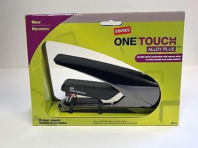 Staples One-touch Alloy Plus Reduced Effort Stapler 30 Sheet Capacity 25114