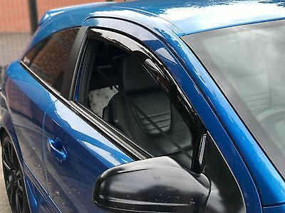 Wind  Rain Deflectors Smoked Finish Vauxhall Astra H Mk5 All 3 Door Models New