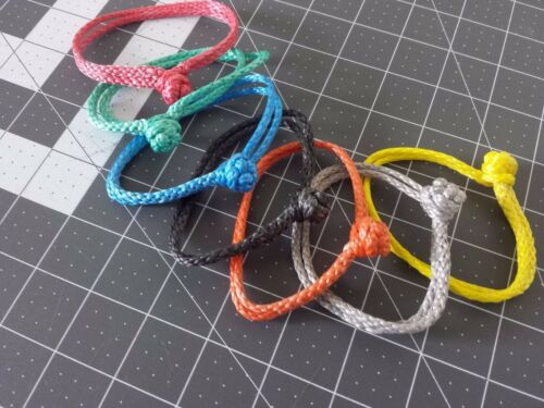 Soft Shackles one pair , strongest Button knot  , 7 colors