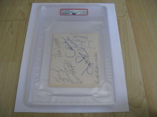 Nat King Cole & Others Invitation PSA/DNA Authentic Autograph Queen Elizabeth BC