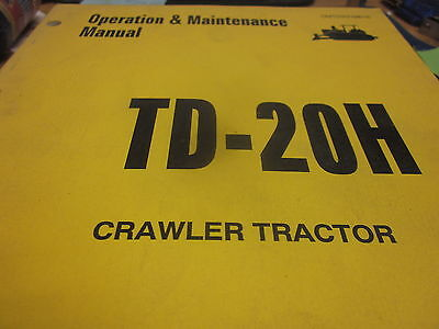Dresser Td-20h Crawler Tractor Operation Maintenance Manual