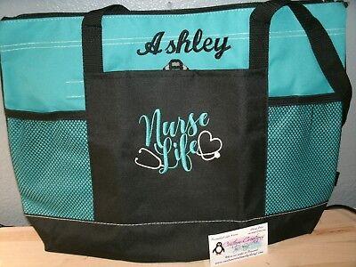 Nurse Tote Bag (Nurse Life Personalized Tote Bag LPN, RN, CNA, HHA,)