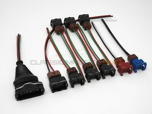Fuel Injector MAF TPS Wiring Harness Connector Kit for Nissan 300zx z31 84-87