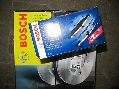 Bosch Brake Discs and Brake Lining Lada Niva II 2123 Set for Front