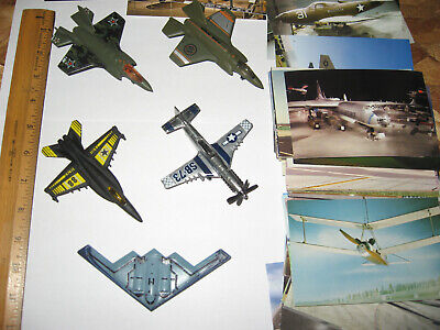 Mattel Matchbox Airplanes Fighter Aircraft Lot Diecast, With Many Post Cards