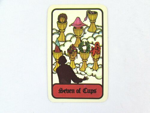 Vintage 1972 Hoi Polloi Tarot *Single Replacement Card* Seven of Cups