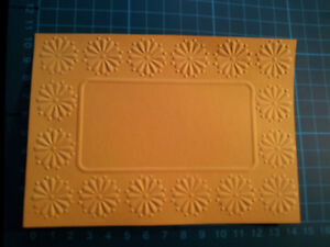 Embossed Daisy Frame  card Stock 140 Gsm - 210 Gsm choose any colour u wish