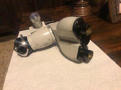Carl Zeiss Germany 1.6x Body With Binocular Head And Zeiss 4 Piece Turett