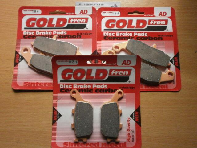 SINTERED FRONT & REAR BRAKE PADS (3x Sets) for SUZUKI DL 650 V-STROM ' 2012-2013