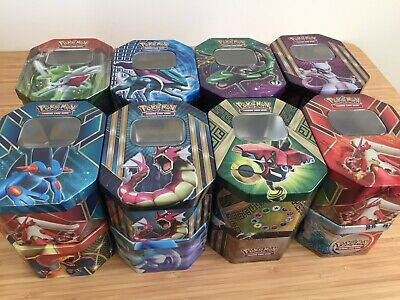 50 mint pokemon cards with 5 shiny/holo and many rare's in tin. Birthday/Easter