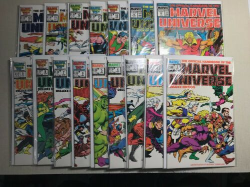 PRIMO:  Official Handbook of the Marvel Universe Deluxe Edition #1-20 comics e9
