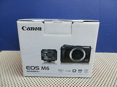 Mint Canon EOS M6 Mirrorless Digital Camera 24.2MP + Canon 15-45mm Lens + Box