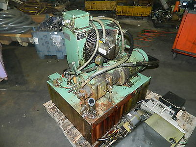 Rexroth 5 HP Hydraulic Unit, 27 Gal. Cap., 2PV2V3-30 Pump, Used, Warranty