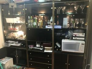 3 display cabinets