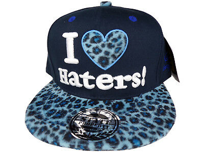 Snapback I Love Haters Baseball Cap blau/schwarz Leo HipHop State Property Mütze (Blaue Hip-hop-mütze)