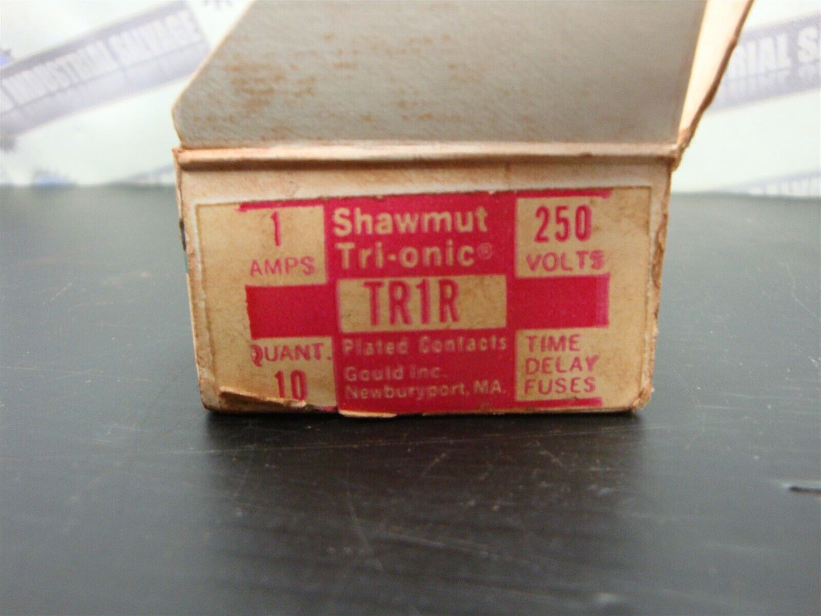 Gould Shawmut Tri-onic 1 Amp 250 Volts Time Delay Fuse TR-1R Box of 10