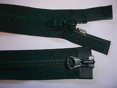 RV410 Reißverschluß YKK grün 74cm lang, als 2-Wege-RV 1 Stück